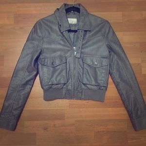 People's Liberation gray faux leather jacket